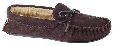 New Mens/Gents Brown Cotswold Dakota Moccasin Style Slippers UK SIZES
