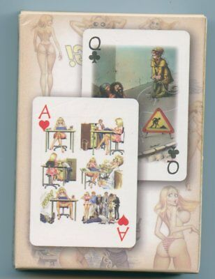 Spielkarten playing cards Pin-Up adult Cartoon Erotic Sexy erotik VCR 2009 E4.94