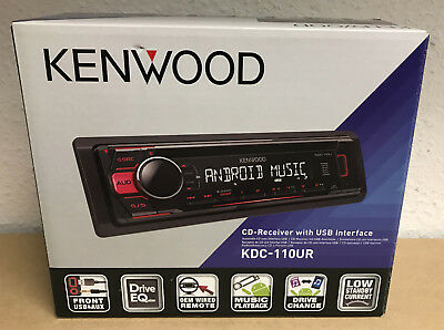 KENWOOD KDC-110UR CAR CD USB RADIO STEREO TUNER PLAYER iPOD/iPHONE AUX INPUT