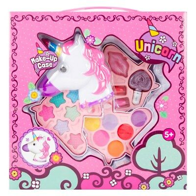 GIRLS UNICORN MAKEUP SET -  Case Nail Polish lipstick lip gloss Eye Shadow Gift