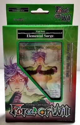 ELEMENTAL SURGE Wind Starter Deck FORCE OF WILL Reiya Cluster Sealed/New ENGLISH
