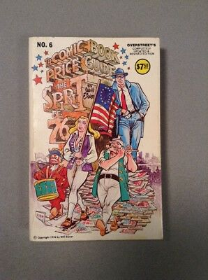 OVERSTREET COMIC BOOK PRICE GUIDE 6TH  EDITION #6 Eisner patriotic Spirit cover
