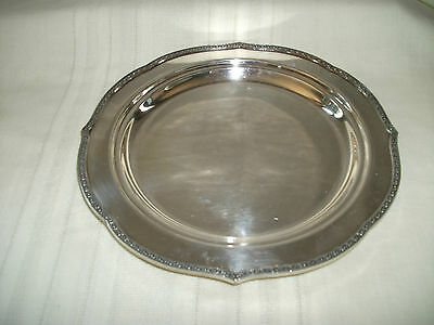 "Lovely silver tray 11"" #140"