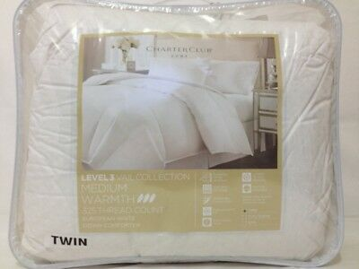 CHARTER CLUB - Vail Level 3 Medium Warmth European White Down Twin Comforter