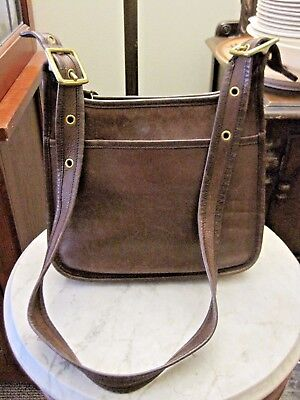 Vintage COACH Brown Leather Hobo Legacy Cross Body Satchel Tote Purse 9966 USA