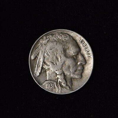 1931-S 5C Buffalo Nickel Circulated Harder Date Us Type Coin