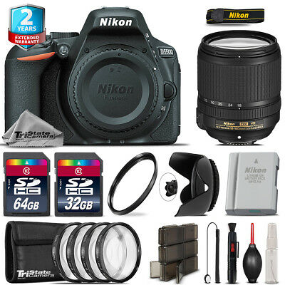 Nikon D5500 DSLR + AFS 18-140mm VR Lens + 4PC Macro Kit + Extra Battery - 96GB