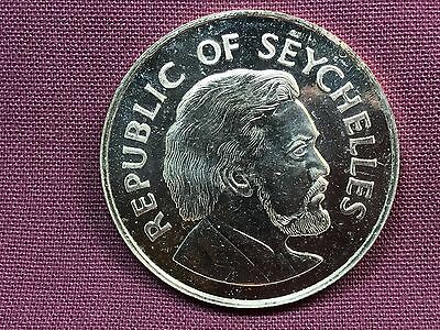 T2: World Coin Seychelles 1977 25 Rupees BU Proof Like