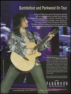 Guns N Roses Ron Bumblefoot Thal Parkwood PW-370M guitar ad 8 x 11 advertisement