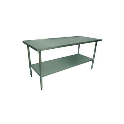 1.5M #430 Medical Centre Stainless Steel Hospital Catering Bench ,7 Under Shelf