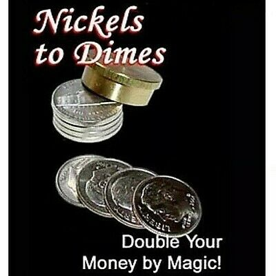 Nickels To Dimes High Quality Brass Magic Trick Close Up Party Magic Trick Usa