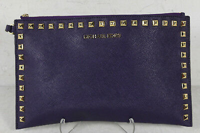 Michael Kors Purple Studded Wristlet Purse