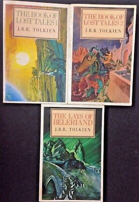 3 x J.R.R. TOLKIEN: THE LOST BOOK OF TALES 1 & 2 + LAYS OF BELERIAND Fantasy