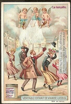Weather - Cherubs Angels Create The Storm c1903 Trade Ad Card