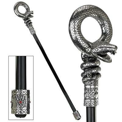 MEDUSAS SNAKE WALKING STICK DESIGN TOSCANO snake  asp  medusa  hair  woman  cane