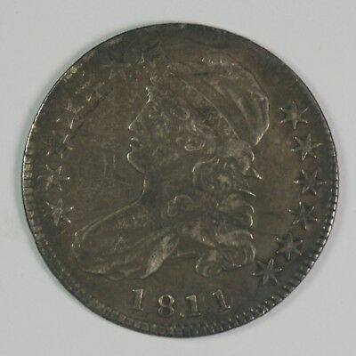 1811 50c Capped Bust Silver Half Dollar