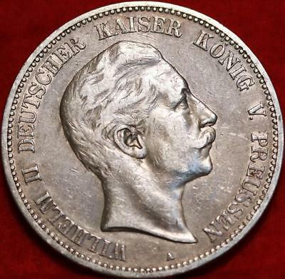 1903-A Germany 5 Marks Silver Foreign Coin Free S/H