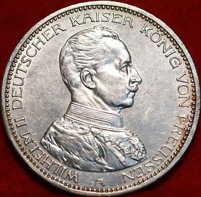 1914-A Germany 5 Marks Silver Foreign Coin Free S/H