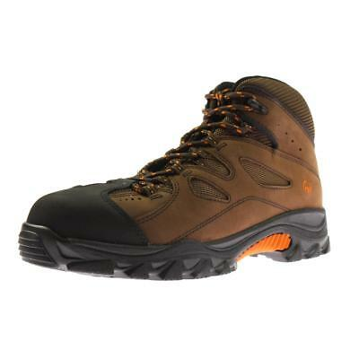Wolverine 7697 Mens Hudson Brown Work Boots Shoes 10 Extra Wide (E+, WW) BHFO