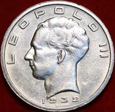 1939 Belgium 50 Francs Silver Foreign Coin Free S/H