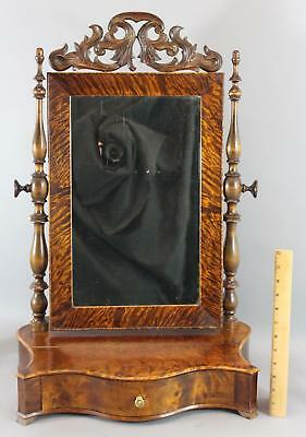 Bench Made, Figured Tiger Maple Gentlemans Dressing Mirror Stand, NR