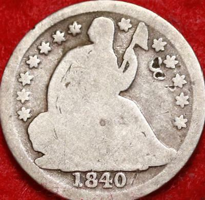 1840-O New Orleans Mint Silver Seated Liberty Half Dime Free S/H