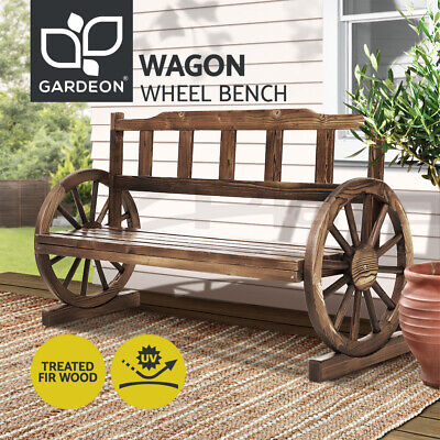 Park Bench Wooden Wagon Chair Seat Outdoor Garden Backyard Lounge Furniture