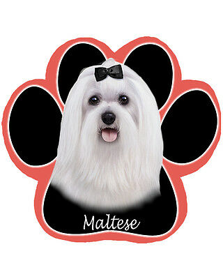 MALTESE Dog Paw Shaped Computer MOUSE PAD Mousepad