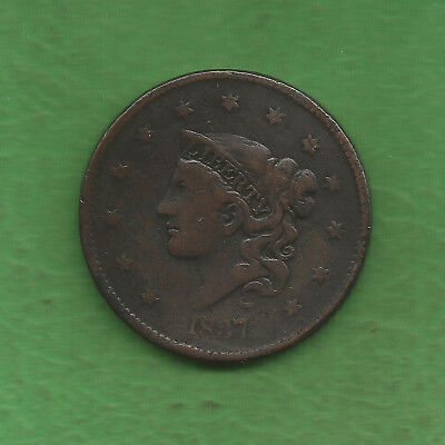 1837 Matron Head Modified Large Cent - 180 Years Old!!