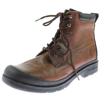 Goodyear 0284 Mens Brown Leather Lace-Up Work Boots Shoes 11 Medium (D) BHFO