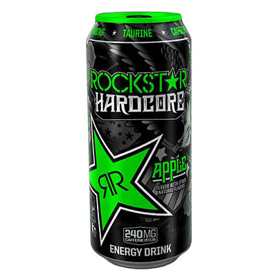 Rockstar Energy Drink Hardcore Apple Case -- 16 oz Cans - Pack of 24