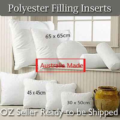 Quality Aus Made Microfibre Filling Pillows-Cushion/European/rectangular Inserts