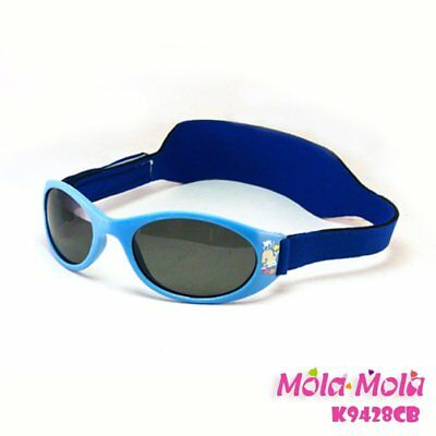 MOLA MOLA Polarized baby sunglasses with strap 12-36months girl safety hotpink