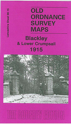 Old Ordnance Survey Map Blackley Lower Crumpsall 1915 Barnes Green Bute Street