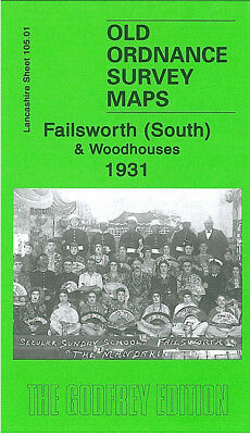 Old Ordnance Survey Map Failsworth South Woodhouses 1931 Manchester Lord Lane