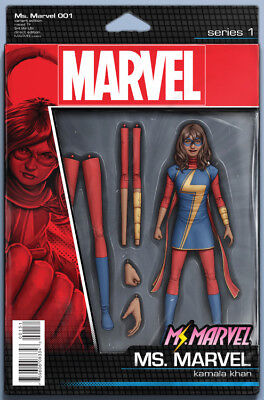 MS MARVEL #1, ACTION FIGURE VARIANT, New, First print, Marvel Comics (2015)