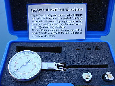 """0-0.8mm/0-0.03"""" (2-In-1) Precision Test Dial Indicator"""