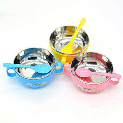 Stainless steel bowl baby food supplement bowls cutlery Children's baby bowl