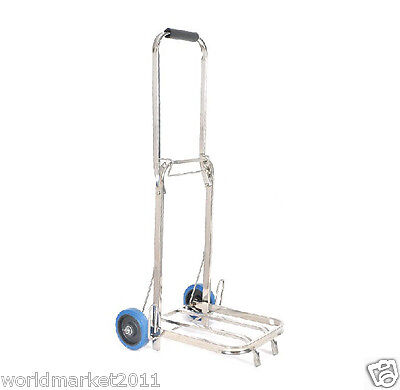 Stainless Steel Two Wheels Convenient Collapsible Shopping Luggage Trolleys L