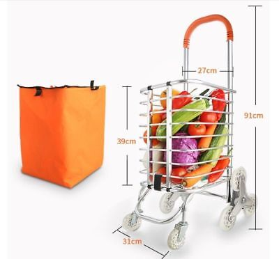A66 Rugged Aluminium Luggage Trolley Hand Truck Folding Foldable Shopping Cart