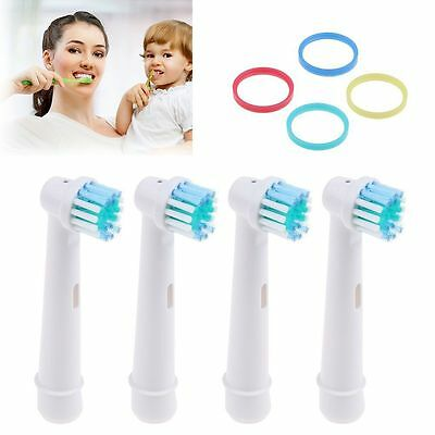 4pcs Soft Bristles Electric Toothbrush Heads Compatible Replacement for Oral-B