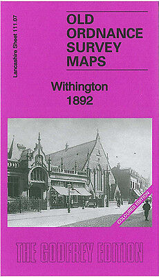 Old Ordnance Survey Map Withington 1892 Manchester Burnage Lane