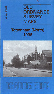 Old Ordnance Survey Map Tottenham North 1936 Edmonton White Hart Lane Park Lane