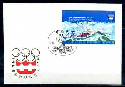 S4207)DDR FDC Bl 43, Olympia