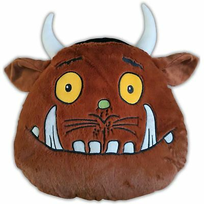 The Gruffalo Head Shaped Cushion Brown New 100% Polyester Childrens New