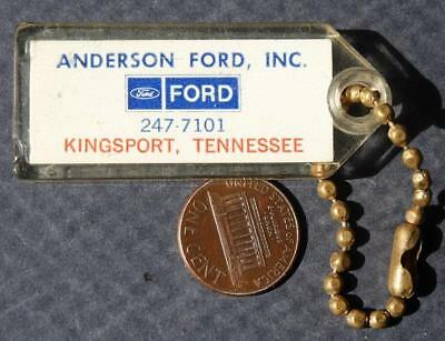 1970s Era Kingsport,Tennessee Anderson Ford Motor Cars keychain-VINTAGE!