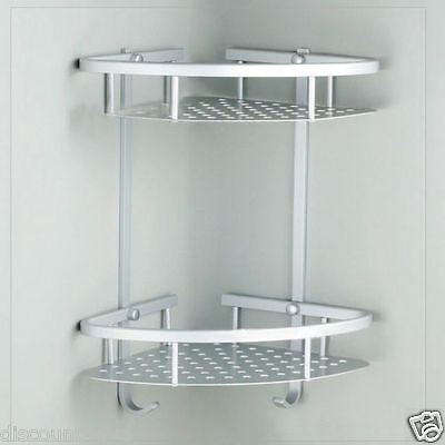 New Aluminum Satina Shower Caddy Shelf Storage Corner BathRoom Shampoo Basket UK