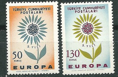 TURKEY EUROPE cept 1964 Without Stamp hinges MNH