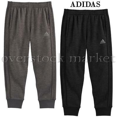 New Adidas Boys Focus Fleece Lined Jogger Pants! Athletic Pull On Pants! Variety