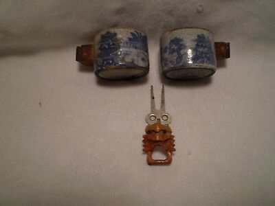 Vintage Bird Cage Water Feeders Asian Style